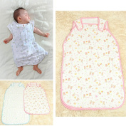 1 Pc Cute Baby Infant Vest Style Sleeping Bag Air Conditioner Sleep Sack ,with 6 Layers Gauze Soft Cotton,Great for 0-12 Months Baby Infant