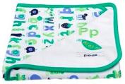 Gymboree Pea Blanket, 100% cotton, reversible, 80cm x 80cm