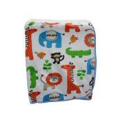 Baby Little Bedding Velour Sherpa Blanket with Zoo 30''40''