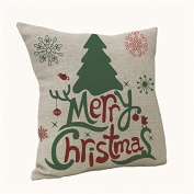 Christmas Pillow Case, Party Lovely Christmas Tree Pillow Vintage Christmas Sofa Bed Home Decoration Festival Pillow Case Cushion Cover 45cm45cm