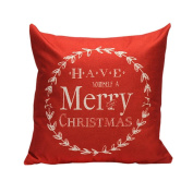 Siniao New Multicolor Vintage Christmas Festival Sofa Bed Home Decor Pillow Case Cushion Cover