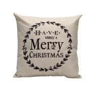 Siniao New Multicolor Vintage Christmas Festival Sofa Bed Home Decor Pillow Case Cushion Cover