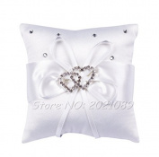 Puraid(TM) 1010cm/1515cm 2016 Especially For you White Rose Pearl Heart Wedding Pocket Ring Cushion/Pillow party home chair head rest