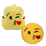 Babyhaven Plush Emoji Kiss Little Kids Backpack and Pillow Set