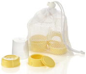 MEDELA BREASTMILK BOTTLE SPARE PARTS 3 TRAVEL CAPS/ 3 COLLARS/ 3 DISCS/ & 3 LIDS #87165