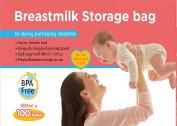 MEDca Breastmilk Storage Bags, 100 Count, BPA Free 6oz / 180ml