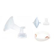 Original SpeCtra Breast Pump PREMIUM Flange Kit Set for SpeCtra S1, S2, S9, and M1 Breast Pumps - (Flange Valve, Backflow Protector,Tubing)