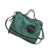 May Lucky Women's Handbag Rivet Shoulder Bag Crossbody Bags