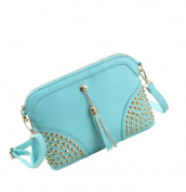 May Lucky Women's Shoulder Bag Crossbody Bags Long Zip Rivet Handbag