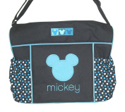 Disney Mickey Mouse Nappy Bag & Changing Pad , Lightweight Travel Tote, Baby Bottle Pockets