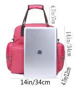 iSuperb Nappy Bag Momi Mummy Bag Baby Nappy Backpack Polka Dot Water Resistant Roomy Shoulder Tote Bag Handbag 13.4 x 34cm x 12cm with Pail Liner