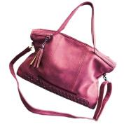 May Lucky Womens Handbag Shoulder Bag Rivet Tassel Crossbody Bags