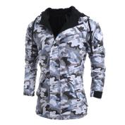 Mens Sweater,Neartime Men's Camouflage Windbreaker Hoody Coat Outwear