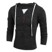 Mens Sweater,Neartime Men's Autumn Winter Hooded Top Long Sleeve Outwear