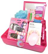 Caboodles Cosmetic Organiser Bundle with Broadway Nail Kit and Beauty Accessories for Tweens