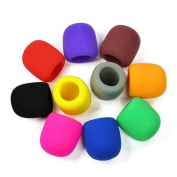 10PC Colours Handheld Stage Microphone Windscreen Foam Mic Cover Karaoke DJ