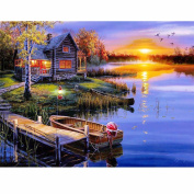 Charminer 5D DIY Cross Stitch Home Decor Diamond Painting Mosaic Pictures of Landscape Home Decoration