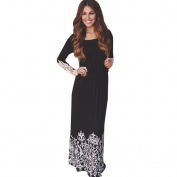 Orangeskycn Women Lace Long Sleeve Party Evening Cocktail Maxi Long Dress