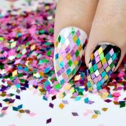 1 Jar Mix Laser Colour 2mm Rhombus Sheet Sparkling Colourful Nail Art Sequins Decoration Manicure Glitter Nails Decor Tools LB111