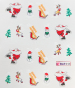 GGSELL Deco Nail art water transfer hydroplaning nail stickers decals Santa Claus Christmas Tree Snowman Sheep