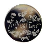Love Rose Nail Art Stamping Template Image Plate Qgirl-043