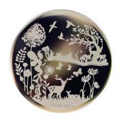 Xmas Deer Nail Art Stamping Template Image Plate Qgirl-045