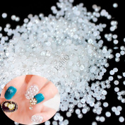 1000pcs SS4 3D Fashion White Nail Art Tips Pearl Acrylic Small Pure white Gems Beads Manicure DIY Decoration 1.5mm