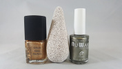 Tinseltown Duo - Nu Wave Annie Oakley (A27), Dr's Remedy Glee Gold with FREE Pumice Stone