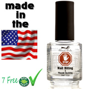 Stop Nail Biting Polish & Thumb Sucking treatment for Kids & Adults, Helps Cure, Stimulates & Promotes Nail Growth, similar to a Thumb & Finger guard for Children, Nail biting solutions for men,15ml