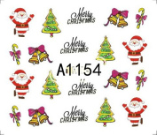 Bhbuy Christmas Nail Art Stickers Water Slide Snowflakes Cute Snowmen Nail Decals