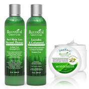 Anti-Hair Loss Premium Organic Sulphate-Free Shampoo & Hair Loss Prevention Therapy Premium Organic Conditioner & Organic Facial Moisturiser.