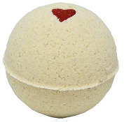 Bath Bomb 160ml Hearts on Fire Cinnamon w Kaolin Clay & Coconut Oil