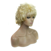 Aoert Short Curly With Bangs Heat Resistant Kanekalon Synthetic wigs for Women Two Colour