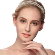 VKFashion Crystal Bridal/Bridemaid/Flower Girl Headband Wedding Beaded Hairpieces Prom Headbands-C01