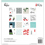 Pinkfresh Studio Double-Sided Paper Pack 30cm x 30cm 16/Pkg-Oh Joy, 16 Designs