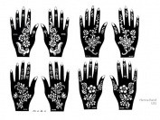 Tattoo Stencil / Template 8 Sheet Set US1 Pretty New Designs Suitable for Hand