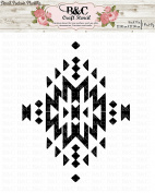 native tribal Aztec stencil for craft and home decoration