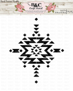 tribal aztec navajo native print stencil for craft and home decoration