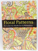 Oceanis Adult and Teen Colouring Book Floral Garden Patterns Theme