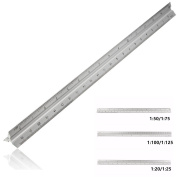 BephaMart 12 Inch 30cm Aluminium Tri Scale Metal Ruler Architect Engineers Technical Rule Shipped and Sold by BephaMart