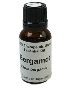 1/2 oz. 15ml Bergamot Bergetine Free Essential Oil