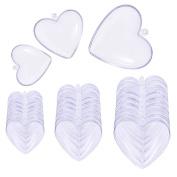 Caydo 15 Set Plastic Heart Shape Bath Bomb Mould 6cm 8cm 10cm for Christmas Ball Ornaments