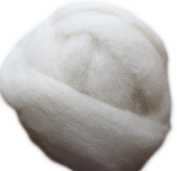 Happy Classy 0.5kg Falkland Corriedale Wool Top Roving White 27 Micron 7.6cm - 13cm Staple Length Fibre