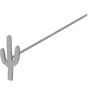 Mini Cactus Wood/Leather Branding Iron | BBQ Fans