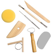 8pcs Pottery About Clay Ceramics Moulding Needle Cutter Loop Ribbon Tools Kit
