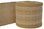Firefly Craft Burlap and Lace Ribbon, 10 yards by 7.6cm