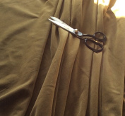 OLIVE GREEN Coloured Light Weight Dressmaking Cotton Velvet / Velveteen - 110cm - 210ml/yd²