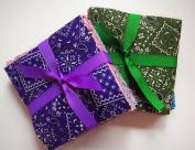 100 bandana pre cut charm pack 13cm squares 100% cotton fabric quilt