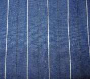 STRIPE DEMIN Fabric 100% COTTON 1 YARD