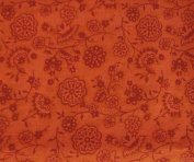 ORANGE FLORAL Fabric 100% COTTON 1 YARD